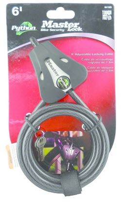 """Picture of Covert 2168 Master Lock Python Security Cable 6', 5/16"""" Black"""